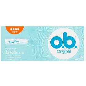 O.B. Original Normal Ταμπόν Αυξημένης Ροής Curved Grooves, 16τμχ.