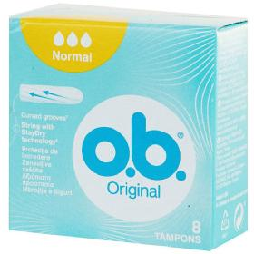 O.B. Original Normal Ταμπόν Μεσαίας Ροής Curved Grooves, 8τμχ.