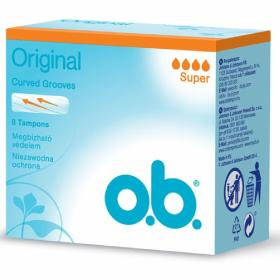 O.B. Original Normal Ταμπόν Αυξημένης Ροής Curved Grooves, 8τμχ.