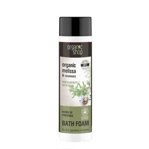 Organic shop Herbs Of Provence Bath Foam, Αφρόλουτρο για ελαστικό δέρμα, Μελισσόχορτο & Δενδρολίβανο, 500ml