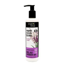 Organic shop Lavande De Provence lavender & iris shower gel, Βιολογικήλεβάντα& ίριδα, Χαλαρωτικόαφρόλουτρο 280ml