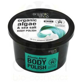 Organic Shop Body polish Atlantic Algae, Scrub σώματος, Φύκια Αρκτικής και Θαλασσινό Αλάτι 250ml
