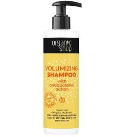 Organic Shop Σαμπουάν για όγκο με αντιβακτηριακή δράση, απόλυτη προστασία και θρέψη, 280ml