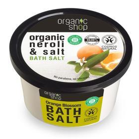 Organic Shop Bath salt Orange Blossom, Άλατα για το Μπάνιο Άνθος Πορτοκαλίου, 250ml.