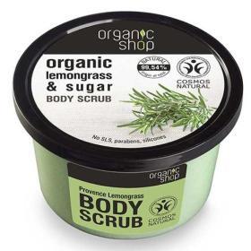 Organic Shop Body scrub Provancal Lemongrass, Scrub σώματος, Λεμονόχορτο και Ζάχαρη, 250ml.