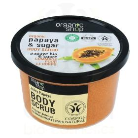 Organic Shop Body scrub Juicy Papaya, Scrub σώματος, Παπάγια και ζάχαρη, 250ml.
