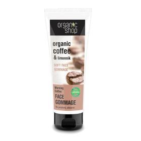 Organic Shop Face Gommage Morning Coffee, Απαλό Scrub Προσώπου Morning Coffee, κατάλληλο για όλους τους τύπους δέρματος, κατάλληλο για όλες τις ηλικίες, 75ml.