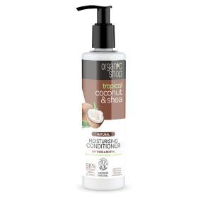 Organic shop, Organic Coconut & Shea, Οργανική Καρύδα & Βούτυρο Καριτέ, Μαλακτικό Ενυδάτωσης, Απαλότητα & Αναζωογόννηση, 280ml.