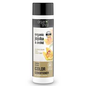 Organic shop Golden Orchid, Μαλακτικό για λαμπερό Χρώμα, Βιολογικό jojoba και Ορχιδέα, 280ml.