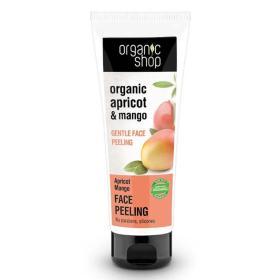 Organic Shop Face Peeling Apricot Mango, απαλή καθαριστική μάσκα peeling προσώπου Βερίκοκο και Μάνγκο, κατάλληλο για όλους τους τύπους δέρματος, κατάλληλο για όλες τις ηλικίες, 75ml