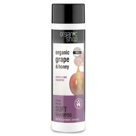 Organic shop Shampoo Grape Honey, Απαλό σαμπουάν, Βιολογικό Σταφύλι και Μέλι, 280ml.