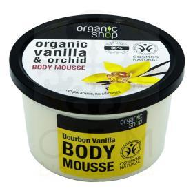Organic shop Bourbon Vanilla Body Mousse, Βιολογική  Βανίλια & Ορχιδέα, Body Mousse 250ml