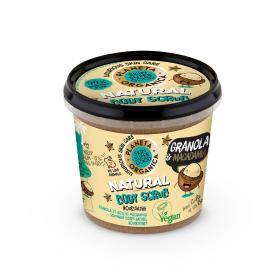 Planeta Organica Skin Super Good, Φυσικό απολεπιστικό σώματος «Granola & Macadamia», για θρέψη, 360ml