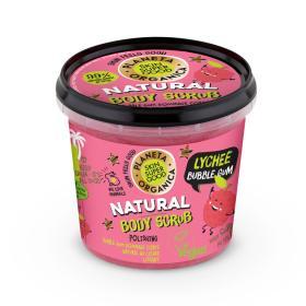 Planeta Organica Skin Super Good, Φυσικό απολεπιστικό σώματος «Lichee Bubble Gum», για λείανση, 360ml