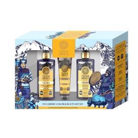 Natura Siberica - Tuva Siberica Yak Milk Beauty Gift Set (Σαμπουάν 300ml + Μαλακτικό για τα μαλλιά 300ml +Μαλακτικό Balm χεριών 75ml)