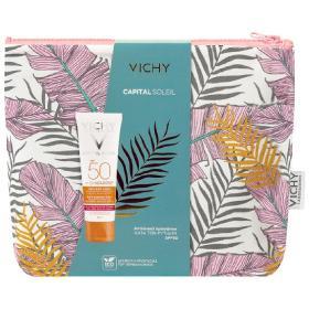 Vichy Promo Capital Soleil Anti Ageing Capital Soleil SPF50 Anti-Ageing 3 in 1 Antioxidant Care 50ml & Νεσεσέρ, 50ml