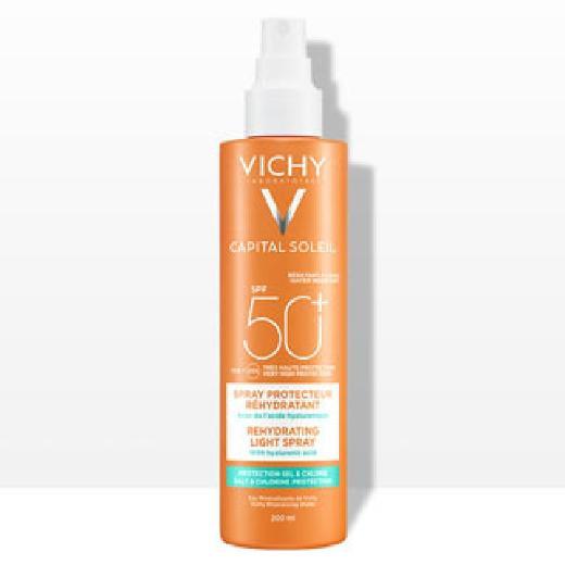 Vichy Capital Soleil Αντηλιακό Σπρέι με Υαλουρονικό Οξύ Beach Protect, SPF 50+, 200ml