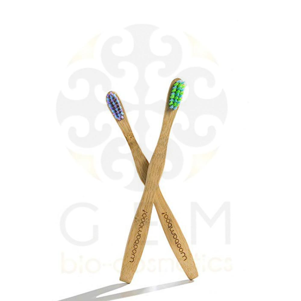 Woobamboo Eco-friendly Παιδική βιοδιασπώμενη Οδοντόβουρτσα x2