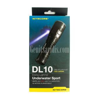 Υποβρύχιος Επαναφορτιζόμενος Φακός LED Nitecore DL10