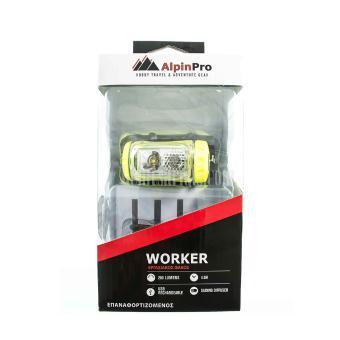 Φακός Κεφαλής Επαναφορτιζόμενος Alpin Pro Worker HL-03R