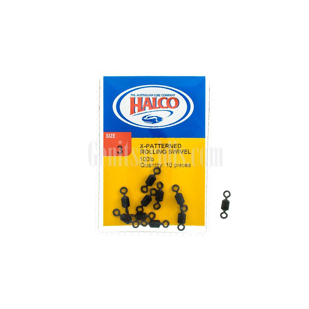 Στριφτάρια Halco X Patterned Rolling Swivel