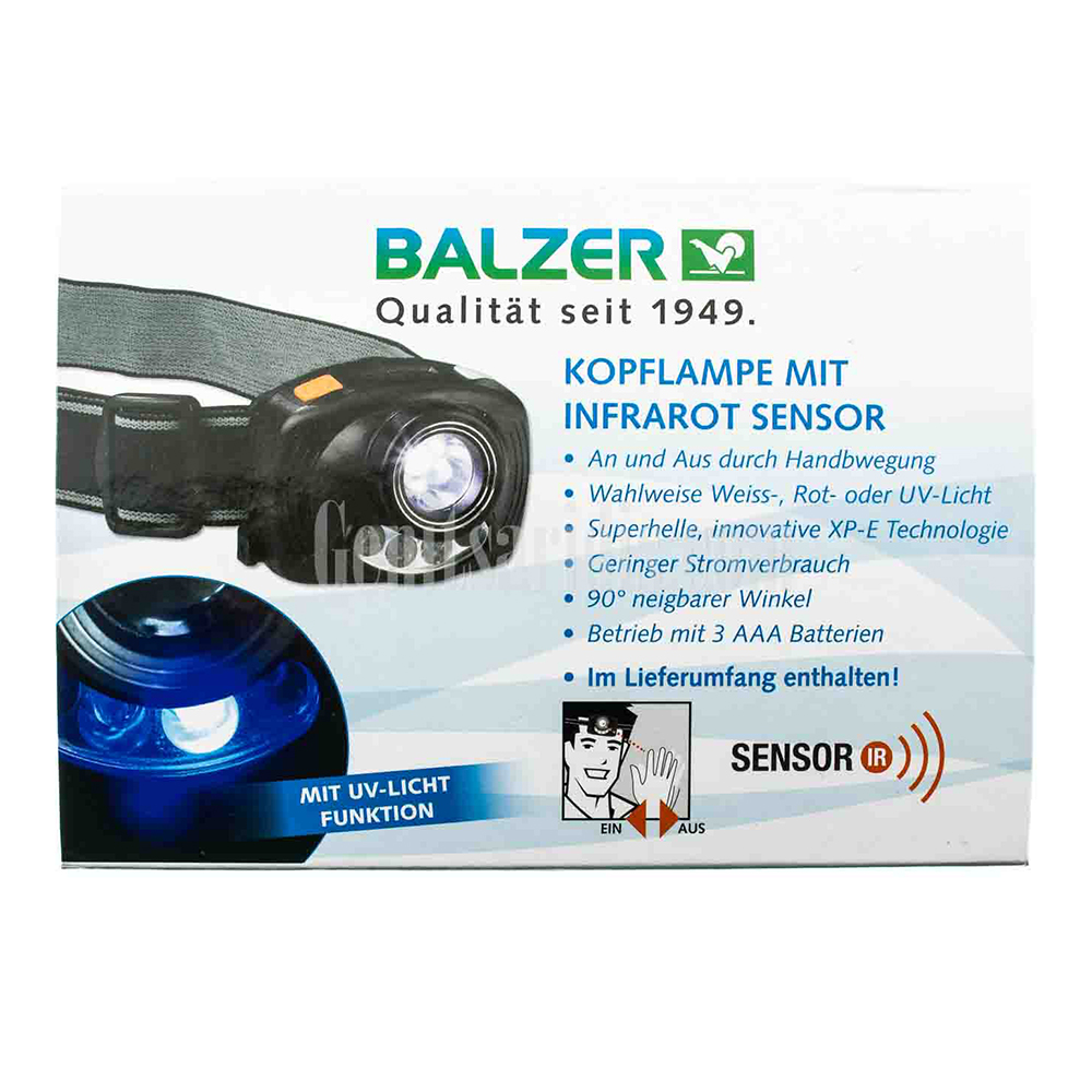 Φακός Κεφαλής Balzer με αισθητήρα