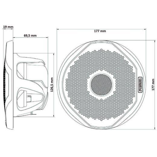 """Ηχεία FUSION MS-FR4021 4"""" 120 Watt 2-Way Speakers"""