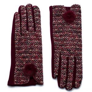 Γυναικεία Γάντια Verde Σκούρο Κόκκινο 02-0478dr