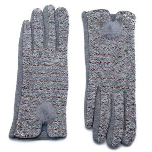 Γυναικεία Γάντια Verde Γκρι 02-0478g