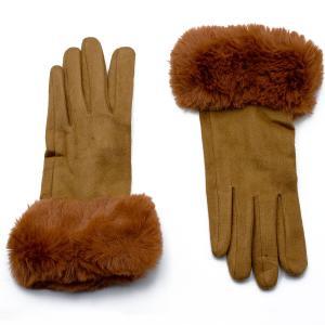 Γυναικεία Γάντια Verde Καμηλό 02-0493c