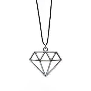 Αντρικό Χειροποίητο Κρεμαστό με Διαμάντι σε Λεπτό Κορδόνι 03-02-002