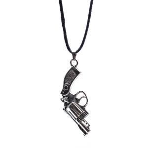 Αντρικό Χειροποίητο Κρεμαστό με Πιστόλι σε Κορδόνι 04-02-003