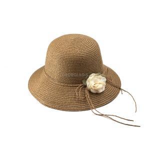 Γυναικείο Καπέλο με Φιόγκο και Λουλούδι Verde 05-0482
