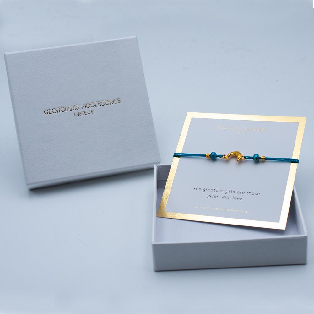 Γυναικείο Χειροποίητο Βραχιόλι με Δελφίνι 08-0010