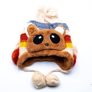 Παιδικό Σκουφάκι για Αγόρι με Εσωτερική Επένδυση , Κορδώνι με Φούντα και Σχέδιο Αρκούδακι 12-01-010