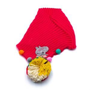 Παιδικό Κασκόλ για Κορίτσι με Πολύχρωμη Φούντα και Σχέδιο Πέπα 12-03-001