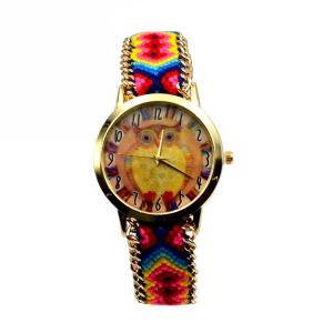 Γυναικείο Ρολόι Πολύχρωμο με Κουκουβάγια 1512-1001