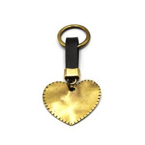 Χειροποίητο Μπρελόκ Καρδιά από Δέρμα και Μπρούντζο 1512-KL0006
