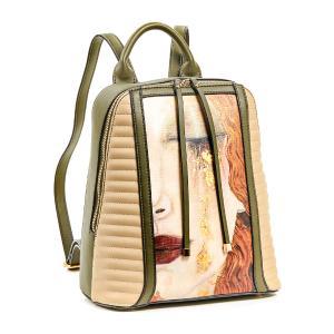 Γυναικεία Τσάντα Πλάτης Verde 16-5773