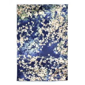 Γυναικείο Φουλάρι Μεταξωτό με Λουλούδια 1712-0005