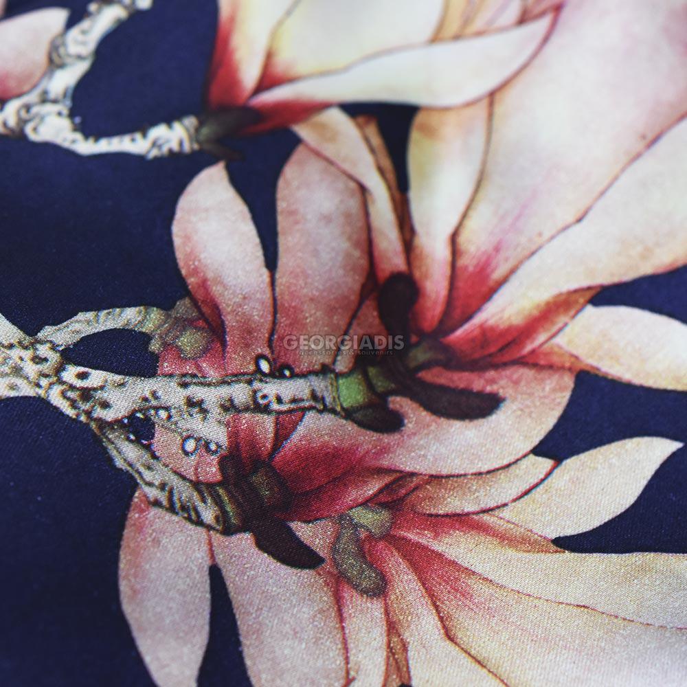 Γυναικείο Φουλάρι Μεταξωτό με Λουλούδια  1712-0006