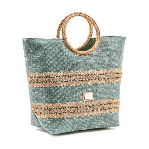 Τσάντα Θαλάσσης Verde Ψάθινη 48-0118