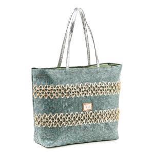 Τσάντα Θαλάσσης Verde Ψάθινη 48-0119