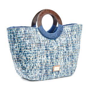 Τσάντα Θαλάσσης Verde Ψάθινη 48-0120