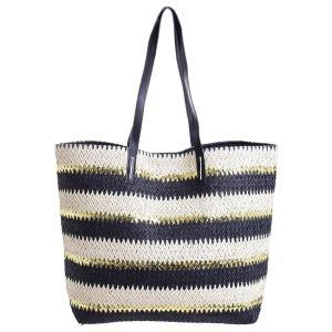 Γυναικεία Τσάντα Ψάθινη Μαύρο/Χρυσό Ble 5-42-025-0041