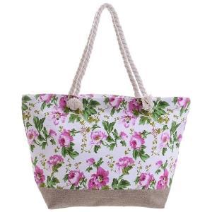 Γυναικεία Τσάντα Υφασμάτινη με Λουλούδια Ble 5-42-151-0048