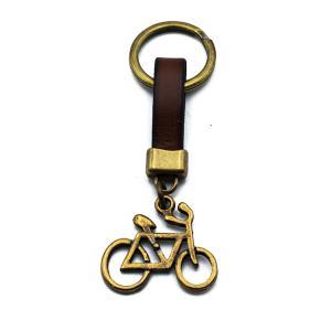 Χειροποίητο Μπρελόκ Ποδήλατο από Δέρμα και Κασσίτερο KL116-001