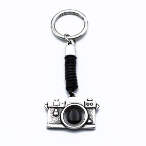 Χειροποίητο Μπρελόκ Φωτογραφική Μηχανή από Δέρμα και Κασσίτερο με Σμάλτο KL09-141