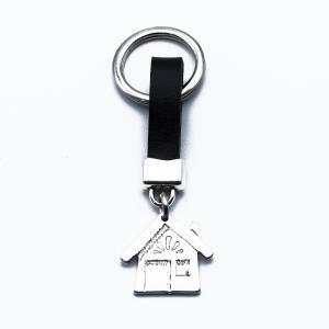 Χειροποίητο Μπρελόκ Σπίτι από Δέρμα και Κασσίτερο KL181-001