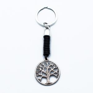 Χειροποίητο Μπρελόκ Δέντρο Ζωής από Δέρμα και Κασσίτερο KL284-001